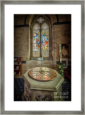 The Limestone Font  Framed Print