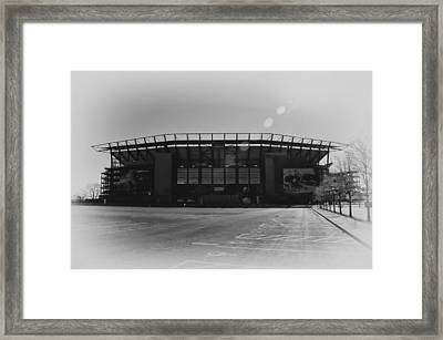 The Linc In Black And White Framed Print