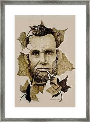 The Lincoln Leaf Framed Print