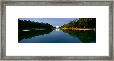The Lincoln Memorial At Sunrise Framed Print by Panoramic Images