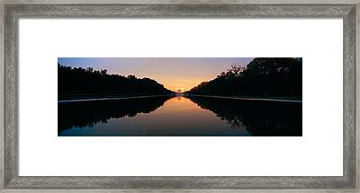 The Lincoln Memorial At Sunset Framed Print by Panoramic Images