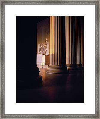 The Lincoln Memorial In The Morning Framed Print