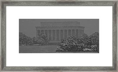 The Lincoln Memorial Framed Print