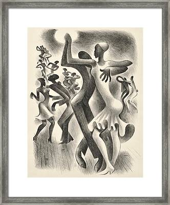 The Lindy Hop Framed Print by  Miguel Covarrubias