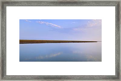 The Line Between Two Worlds Framed Print