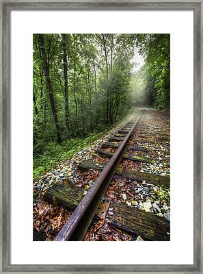 The Line Framed Print by Debra and Dave Vanderlaan