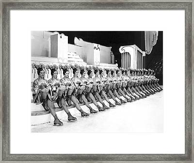 The Lineup Of Glamour-icers Framed Print