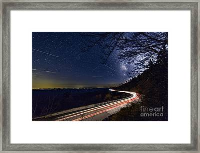 The Linn Cove Viaduct Milky Way Framed Print