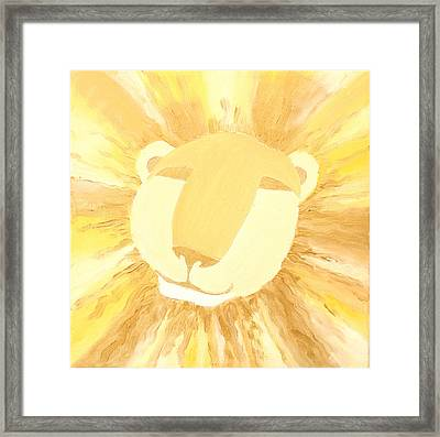 The Lion A Framed Print by Sandra Yegiazaryan