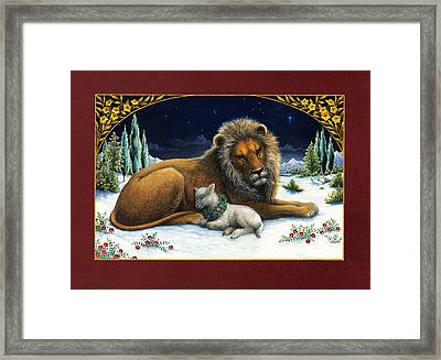 The Lion And The Lamb Framed Print by Lynn Bywaters