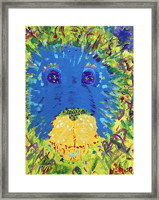 Framed Print featuring the painting The Lion Blooms In Springtime by Yshua The Painter