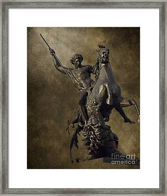 The Lion Fighter Framed Print by Tom Gari Gallery-Three-Photography