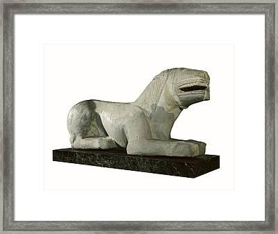 The Lion Of Baena Or The Lioness Framed Print