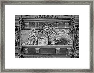 The Lion Of Saint Mark Framed Print by Lee Dos Santos