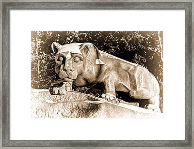 The Lion Shrine Framed Print