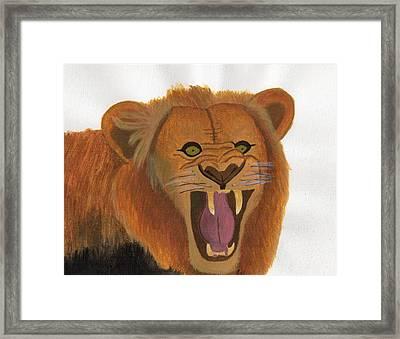 The Lion's Roar Framed Print by Bav Patel