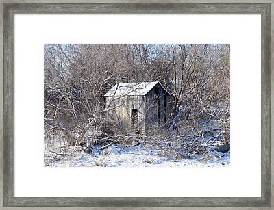 The Little Barn Framed Print by Kristine Bogdanovich