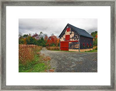 The Little Barn Framed Print by Marcia Colelli