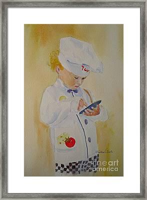 The Little Chef Framed Print