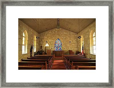 The Little Church Of La Villita Framed Print