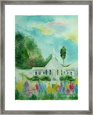 The Little Country Church Framed Print by Melanie Palmer