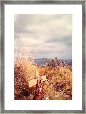 The Little Cross Framed Print by Carla Carson