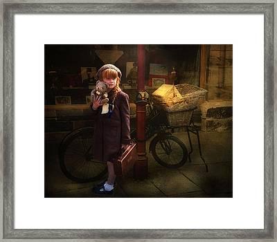 The Little Evacuee Framed Print
