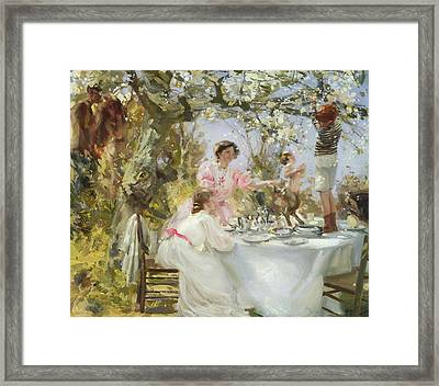 The Little Faun Framed Print by Charles Sims