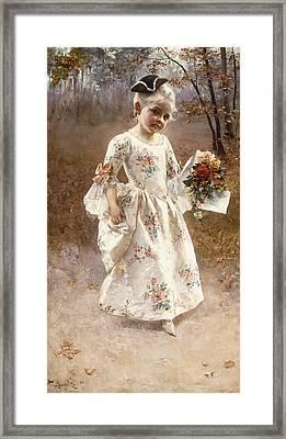 The Little Flower Girl  Framed Print