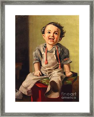 The Little Glee At Three Framed Print