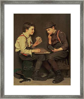 The Little Joker Framed Print by John George Brown