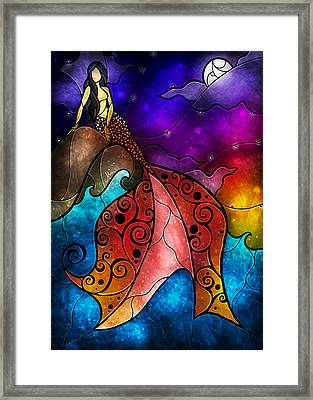 The Little Mermaid Framed Print by Mandie Manzano