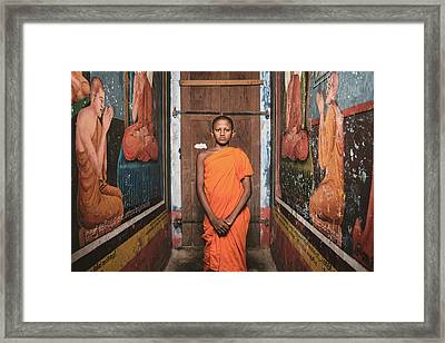 The Little Monk Framed Print