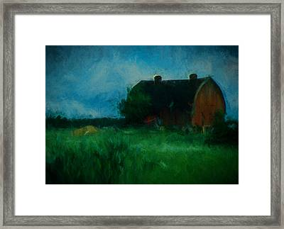 The Little Old Barn Framed Print by Cathy Anderson