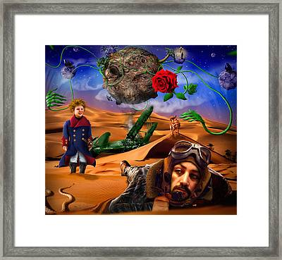 The Little Prince - Le Petit Prince Framed Print by Alessandro Della Pietra