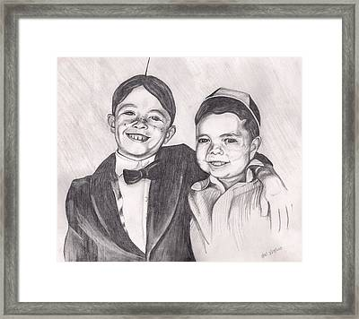 The Little Rascals Framed Print by Beverly Marshall