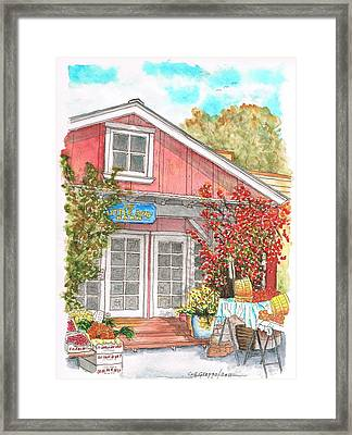 The Little Red Barn In Calabasas - California Framed Print by Carlos G Groppa