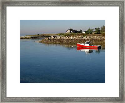 The Little Red Boat Framed Print