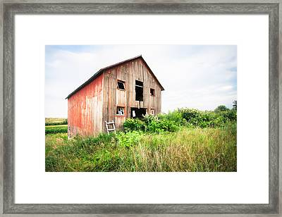 The Little Red Shack On Tucker Road - Old Barns And Things Framed Print