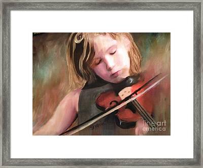 The Little Violinist Framed Print by Sharon Burger