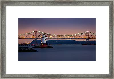 The Little White Lighthouse Framed Print