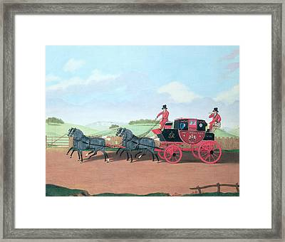 The Liverpool And London Royal Mail Coach, 1812 Oil On Canvas Framed Print