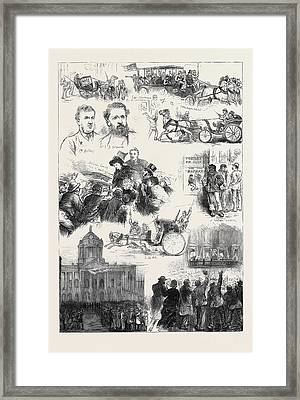 The Liverpool Election 1880 Framed Print