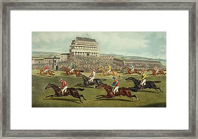 The Liverpool Grand National Steeplechase Coming In Framed Print by Charles Hunt and Son