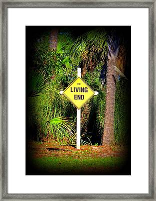 The Living End Framed Print by Carla Parris