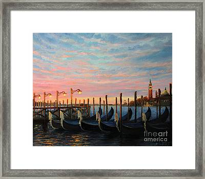 The Living Flame Of The Day Framed Print by Kiril Stanchev