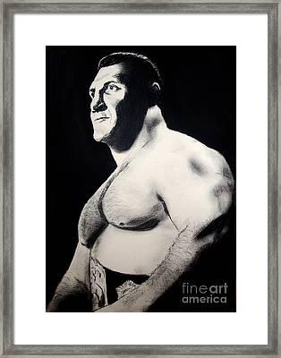 The Living Legend Of Wrestling Bruno Sammartino Framed Print by Jim Fitzpatrick