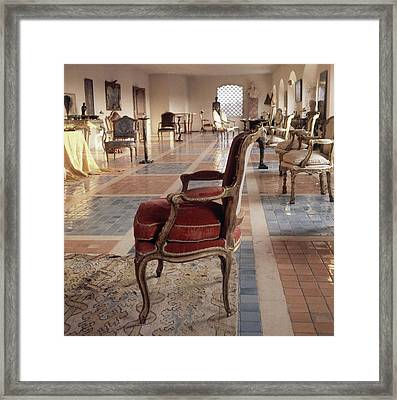 The Living Room Of Baron And Baroness Philippe De Framed Print