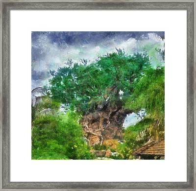 The Living Tree Wdw Photo Art Framed Print by Thomas Woolworth