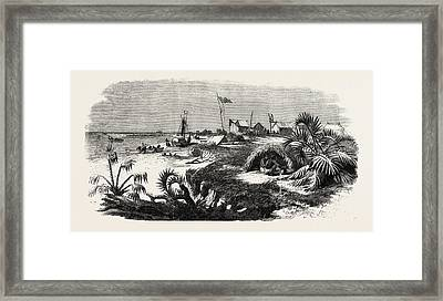 The Livingstone Expedition In Africa Dr Framed Print